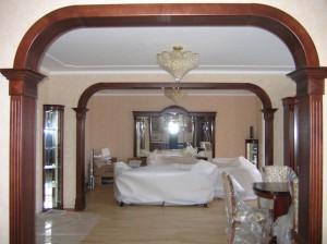 Специфика изготовления деревянных межкомнатных арок