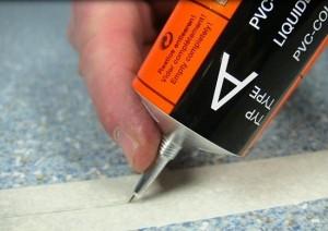 Ремонт линолеума произвести своими руками достаточно легко