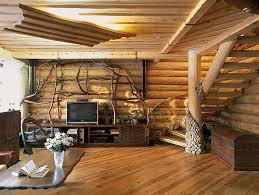 Дома из дерева разной текстуры